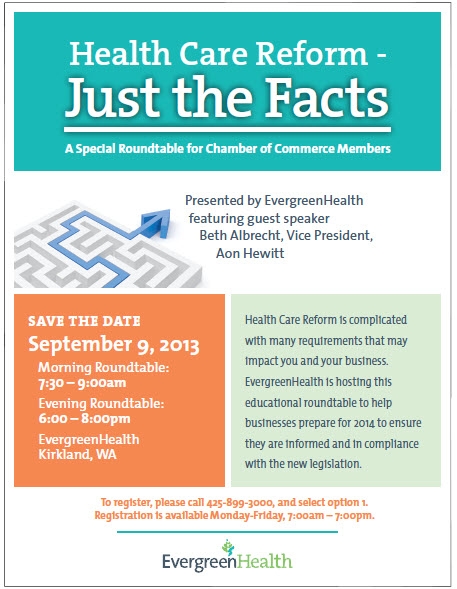 Health care reform just the facts a special roundtable for chamber