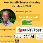 October Duvall Chamber Meeting Picture