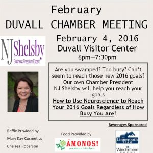 Don't miss the February Chamber Meeting! Thursday, Feb 4th