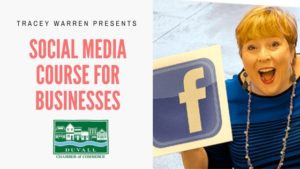Social Media Course for Businesses:  Live In-Person Training with Tracey Warren