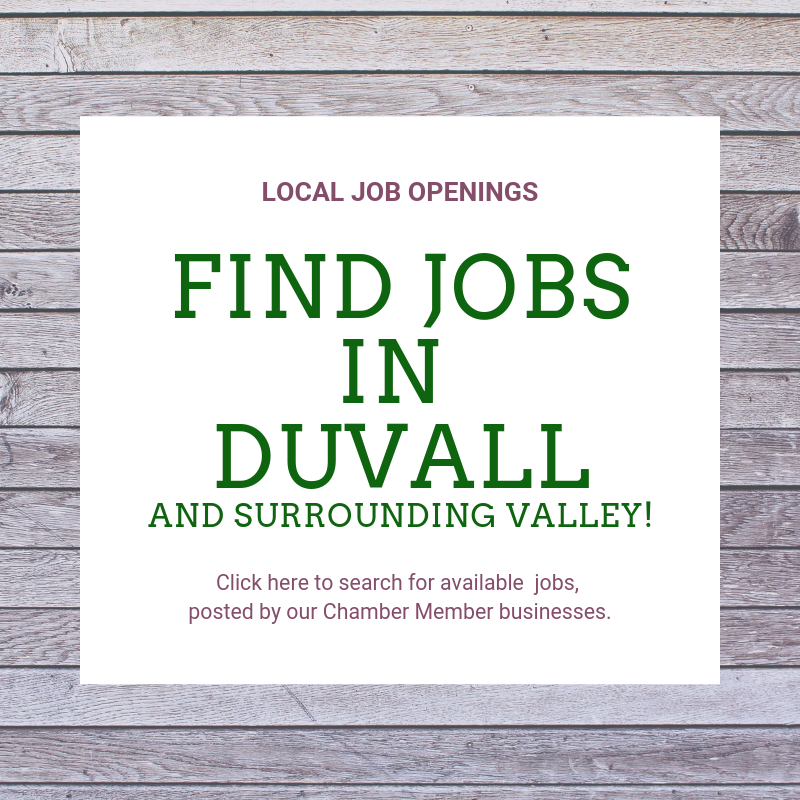 Duvall Chamber of Commerce - Supporting Businesses in Duvall