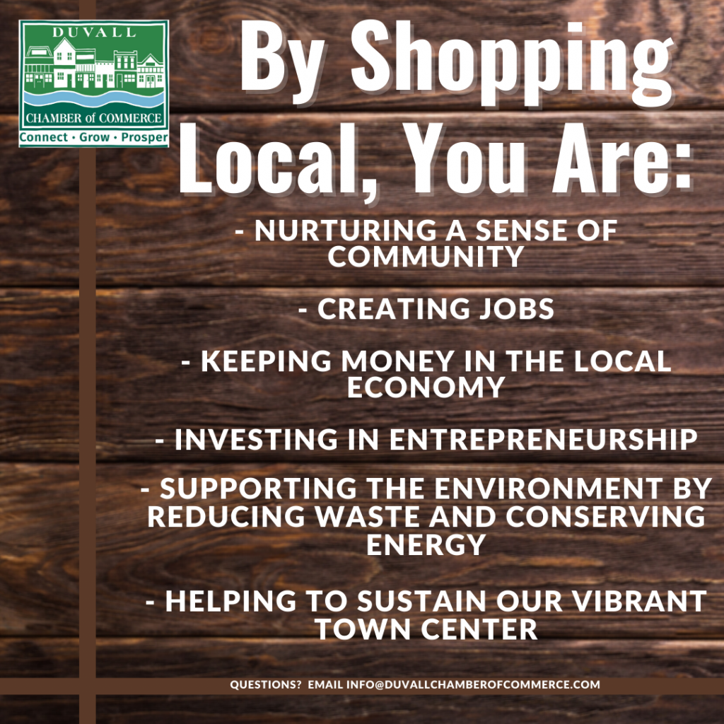 By Shopping Local you are