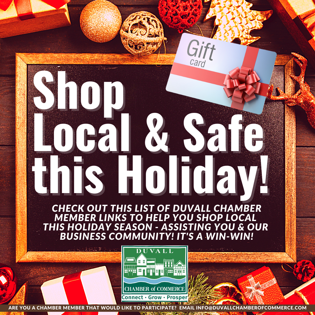 Holiday 2020 Shop Local Campaign Header Graphic - Website